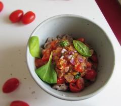 (15% raw) vegan buckwheat Mediterranean pasta shel…