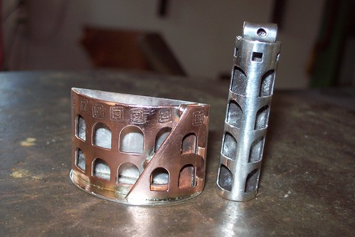TRIBUTE TO ROMA copper and sterling  pendants by marco_magro