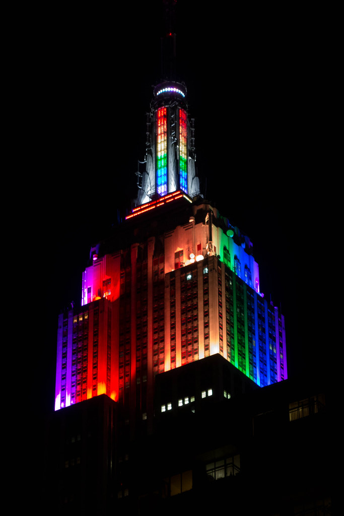 Empire State Building Lit Up With Rainbow Colors In Honor of New York City Pride Week