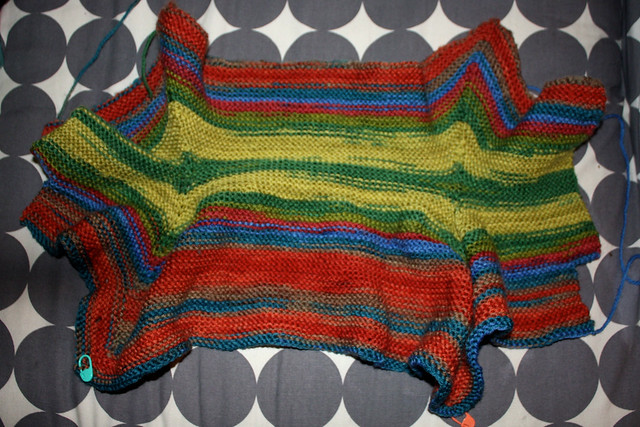 Baby Surprise Jacket II in Classic Elite Liberty Wool: almost done!
