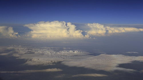 Aerial View - Evening Clouds