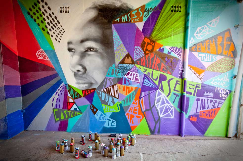 How street art is inspiring social change in south africa for Asha mural painting