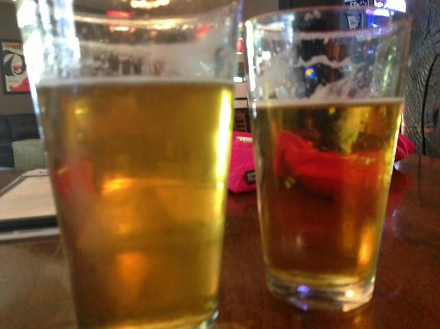 休憩はビール