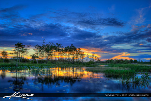 Cool-Sunset-Over-Loxahatchee-Slough-Wetlands