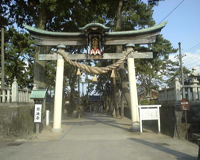 Hojozu Hachiman Shrine in Shin-Minato, Takaoka