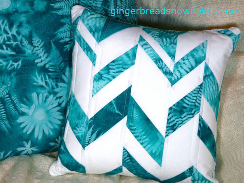 Haphazard Chevron Pillow