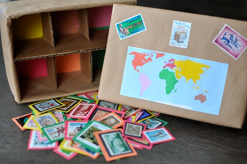 Stamp Sorting Box Continent
