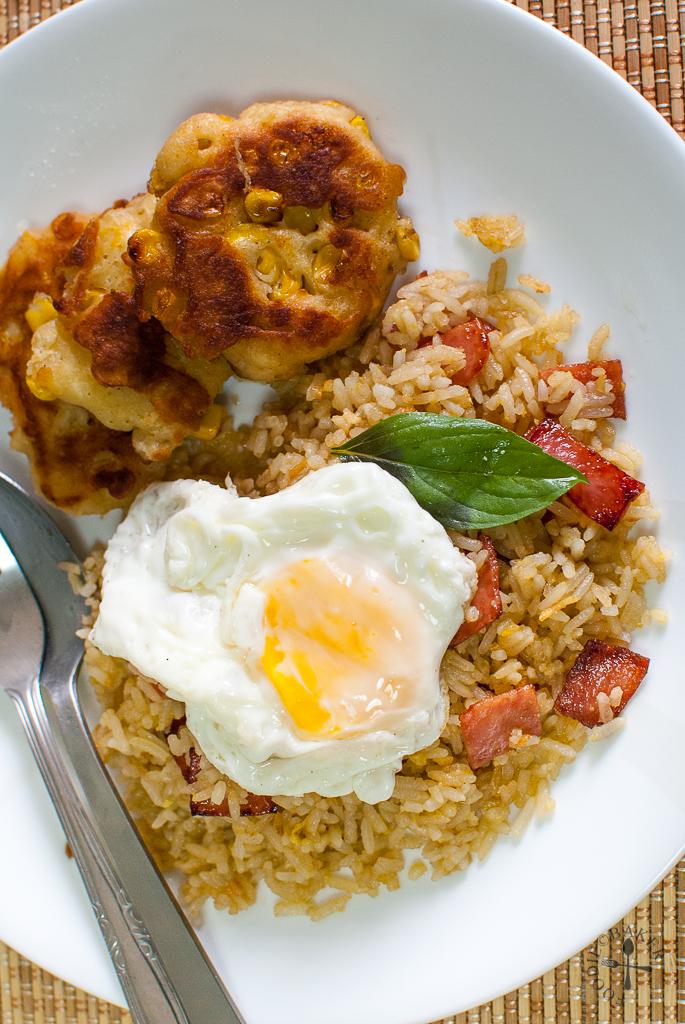 Coconut-Pandan-Garlic Fried Rice