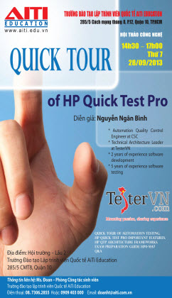 Quick Tour Of HP Quick Test Pro