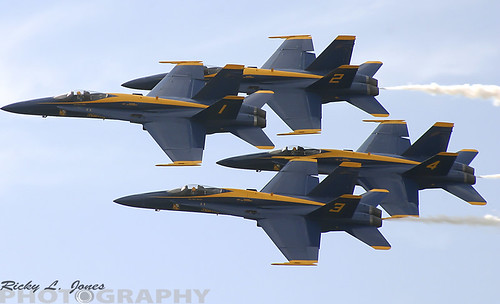 The US Navy Blue Angles by Ricky L. Jones Photography