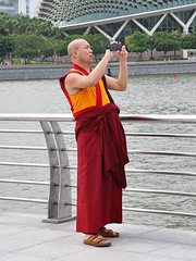 Singapore - Fotographing Monk