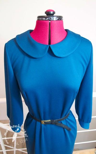 Burda Moden 10/1964, blog, marchewkowa, szycie, krawiectwo, wykrój, Burda Moden, retro, vintage, sukienka, dzianina, punto, mankiety, kołnierzyk