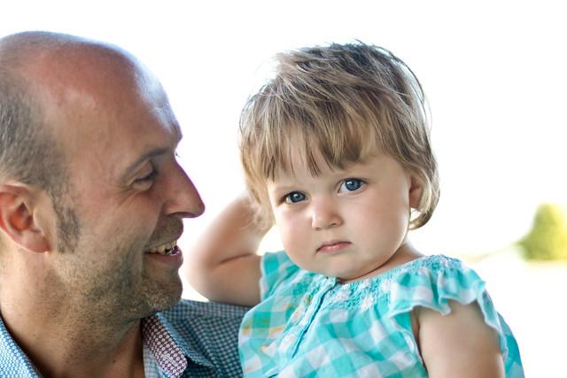 Lili et papa