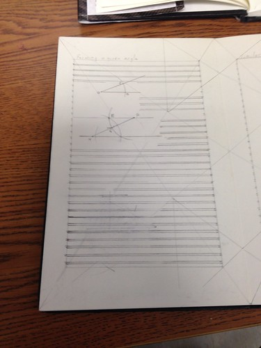 Thirty Days of Making: geometry textbook page