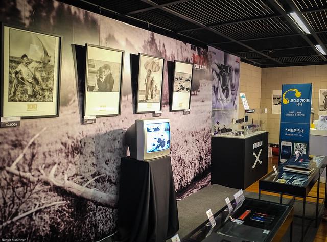 Robert Capa 100 Exhibit Lobby