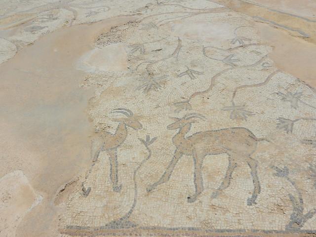 Кейсария, Израиль. Сохранившиеся мозаики