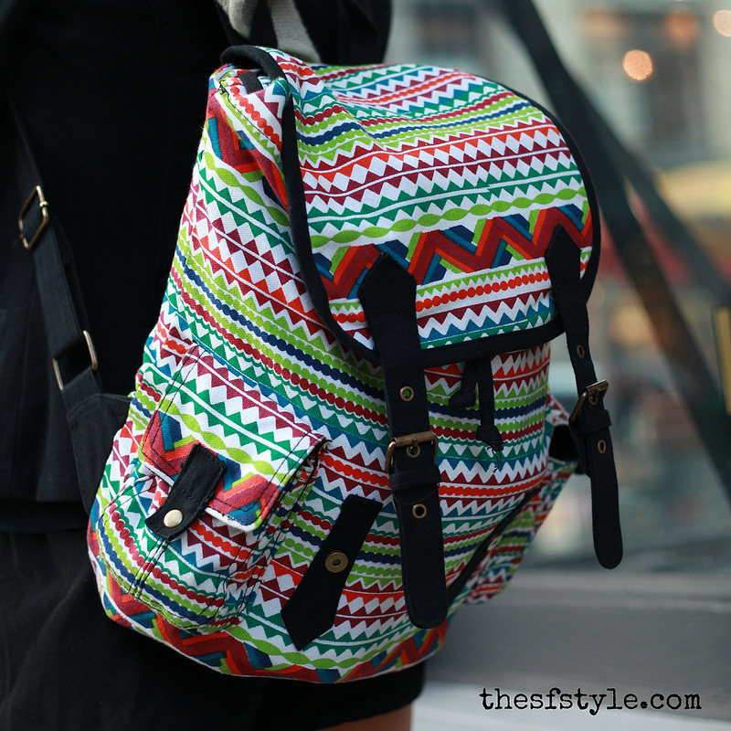 vibrant print backpack, new york fashion blog, new york streetstyle, STREETFASHIONSTYLE,