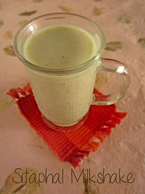 Sitaphal/Custard Apple Milkshake