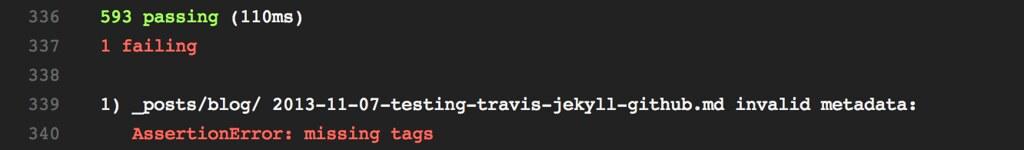 Travis tests failed