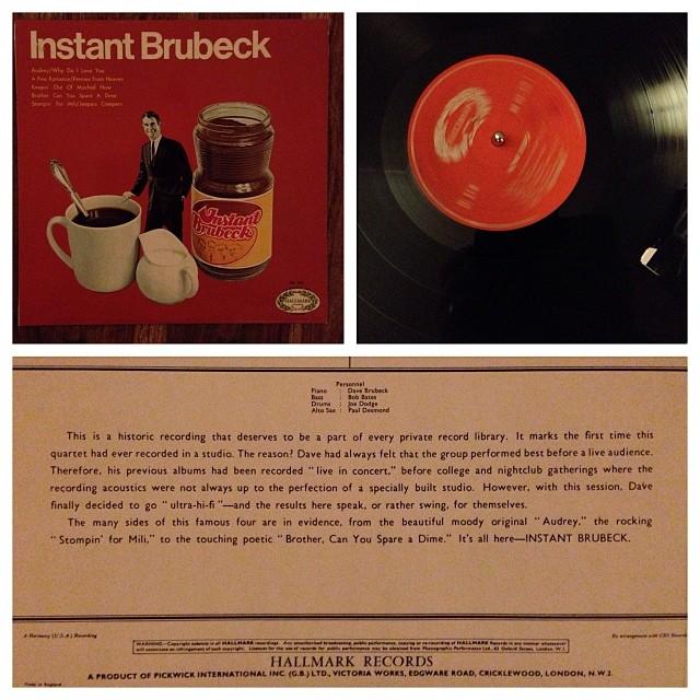 """171113_ #np """"Instant Brubreck"""" by Dave Brubreck #vinyl #jazz"""