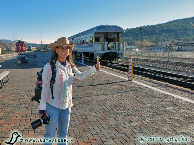 PIC: The Grand Canyon Railway train arrives at Williams Train Station