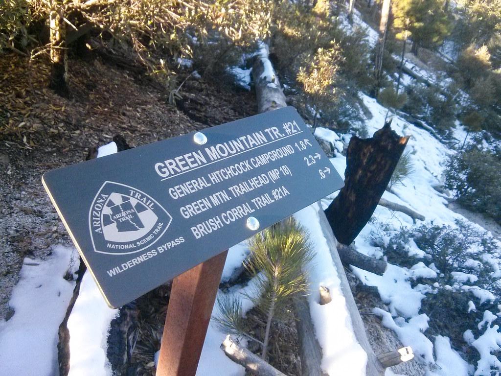 1311 Green Mountain Trail 21 Sign at Bear Saddle