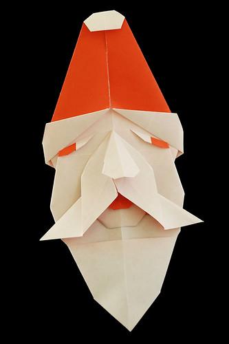 Origami Santa Face (Kazuo Kobayashi)