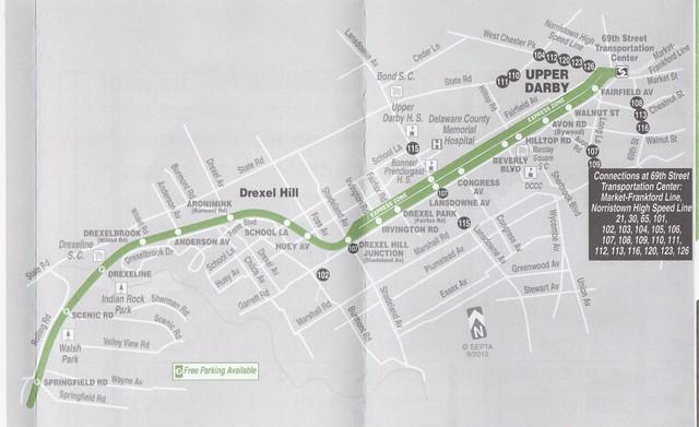 SEPTA 2012 101 Map 1