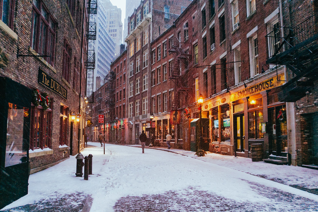 New York City - Snow - Stone Street --