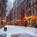 New York City - Snow - Stone Street -- by Vivienne Gucwa