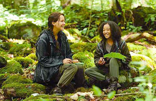 katniss and rue in the hunger games