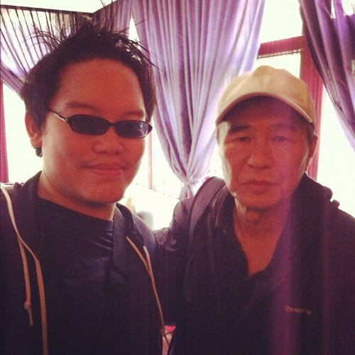 With Hou Hsiao-Hsien, Taipei (January 2012)