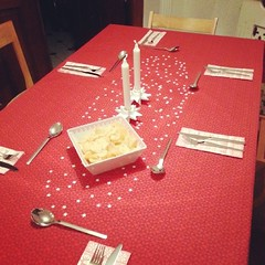 Table is set for Christmas Eve dinner. :-) #godjul #glædeligjul