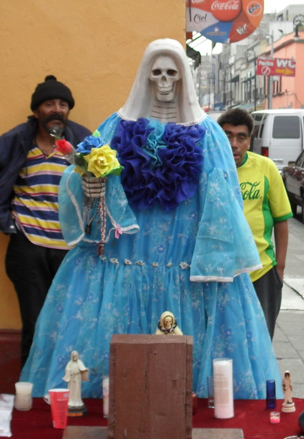 Santa Muerte irgendwo in Mexico City