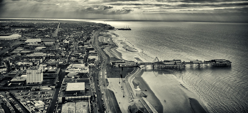 Panorama from Blackpool tower - FlickR explore 1/01/2014