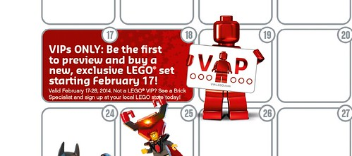 LEGO February Calendar VIP Exclusive Set