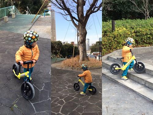 自転車(ストライダー)がんばるとらちゃん 3歳 2014/1