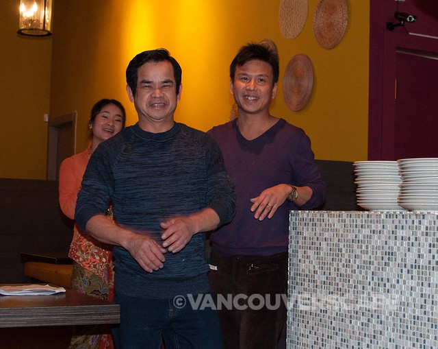 In foreground: Kaya Malay's Chef SinSer Lim, and Manager Scott Kwan