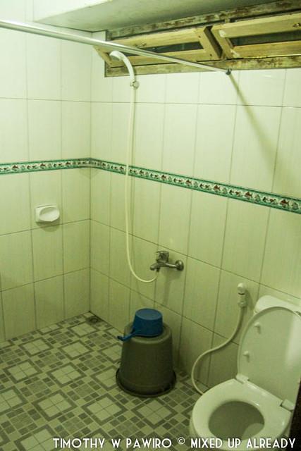 Indonesia - North Sumatra - Samosir - Lake Toba - Lekjon - The bathroom