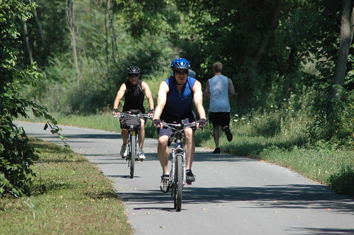 Bike riders enjoying a trail