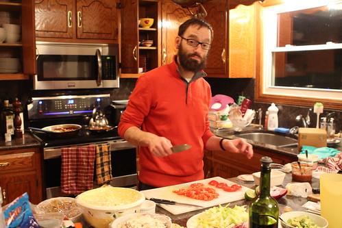 Nate Preparing Dinner