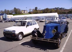 Two Renault automobiles
