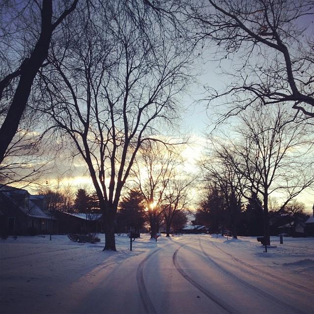 Glimmer #run #snow #sunrise