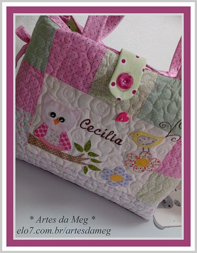 Bolsa Maternidade para a pequena Cecília ♥ by * Artes da Meg *