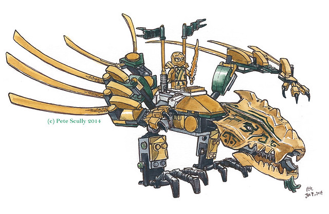 ninjago gold dragon