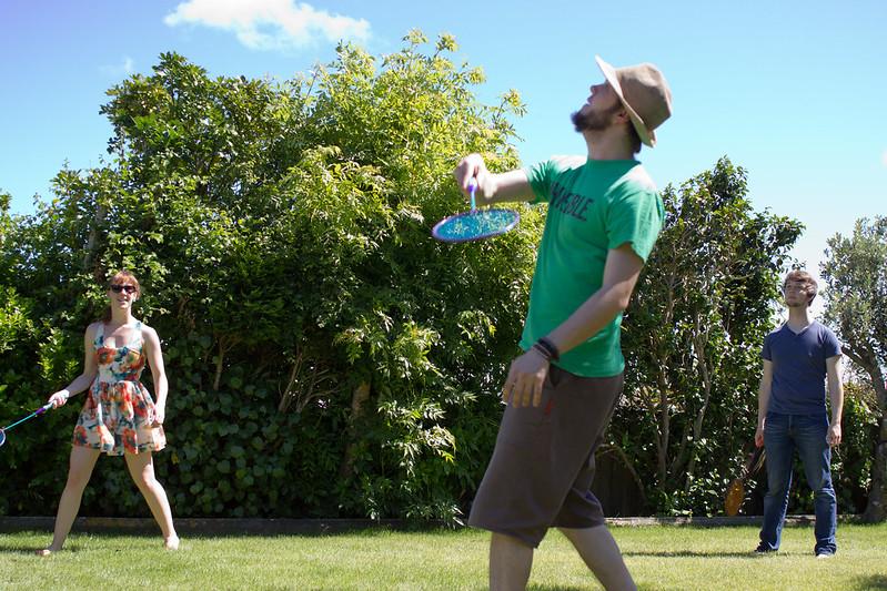 Wednesday, December 25: NZ Christmas involves sun and backyard badminton.
