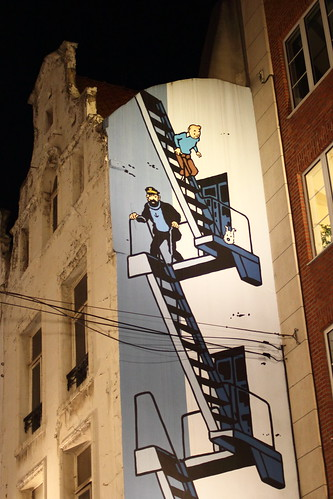 Tintin graffiti