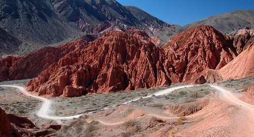 Trail in Purmamarca in Northwest Argentina
