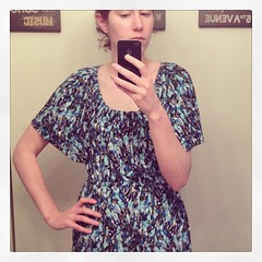 5/20 #mmmay14 no makeup, messy hair, but a cute dress from a Vogue Tracy Reese pattern. #sewing