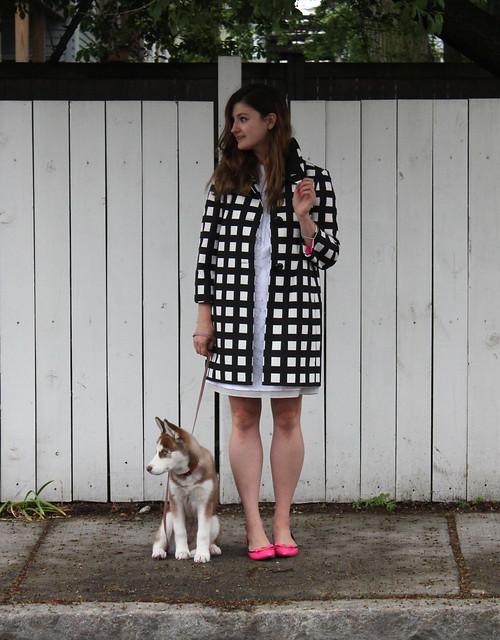 kate spade checkered franny coat 3
